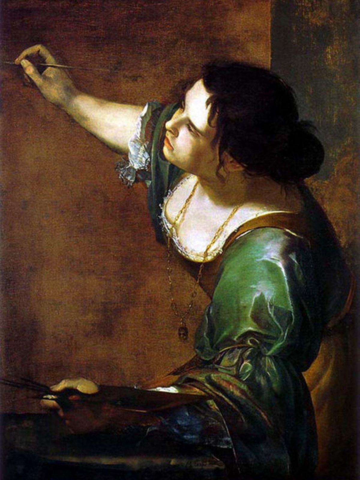 Artemisia Gentileschi, Autoritratto come allegoria della Pittura, 1638,Windsor Castle, Royal Collection