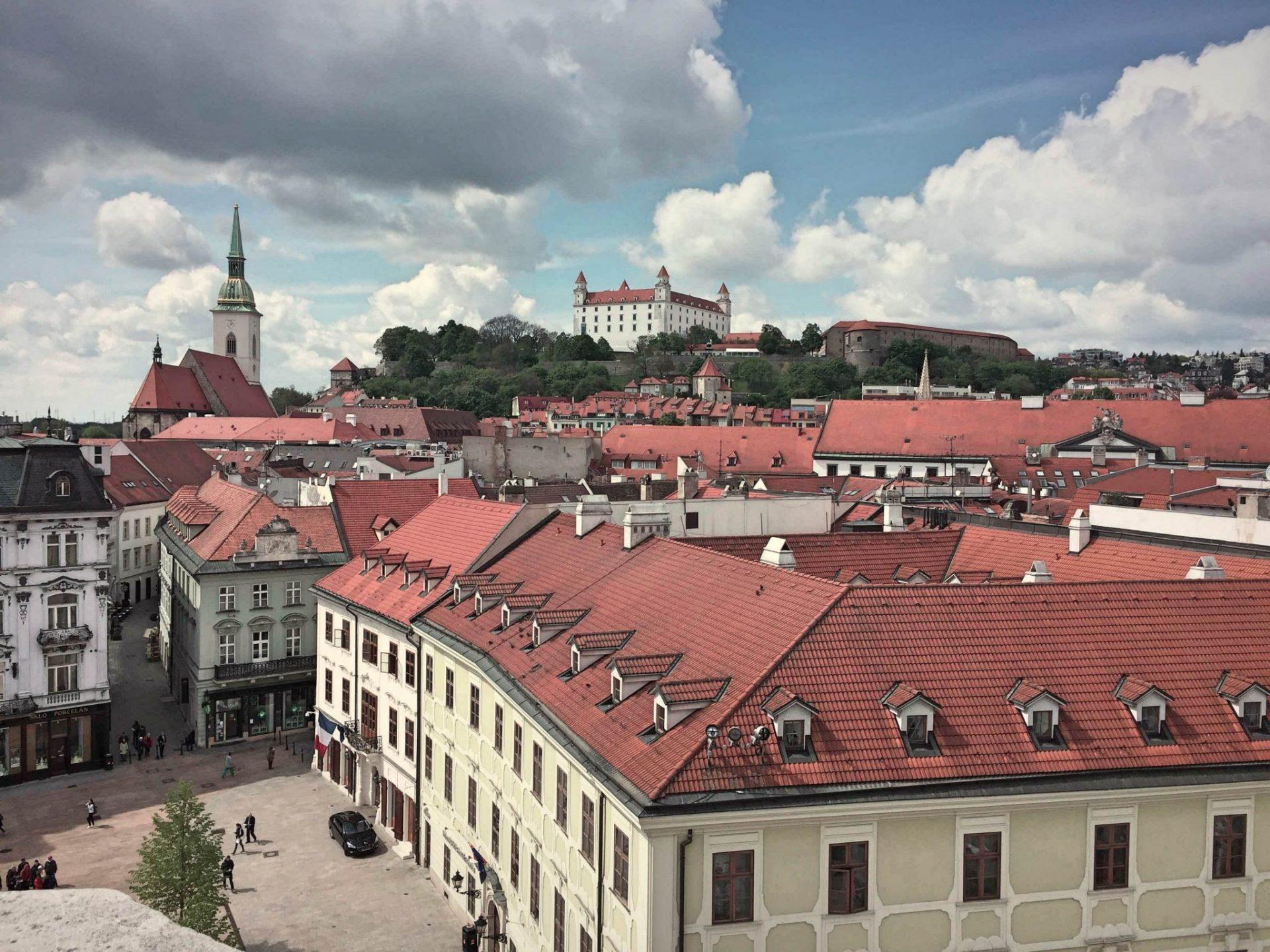 Bratislava veduta dall'alto