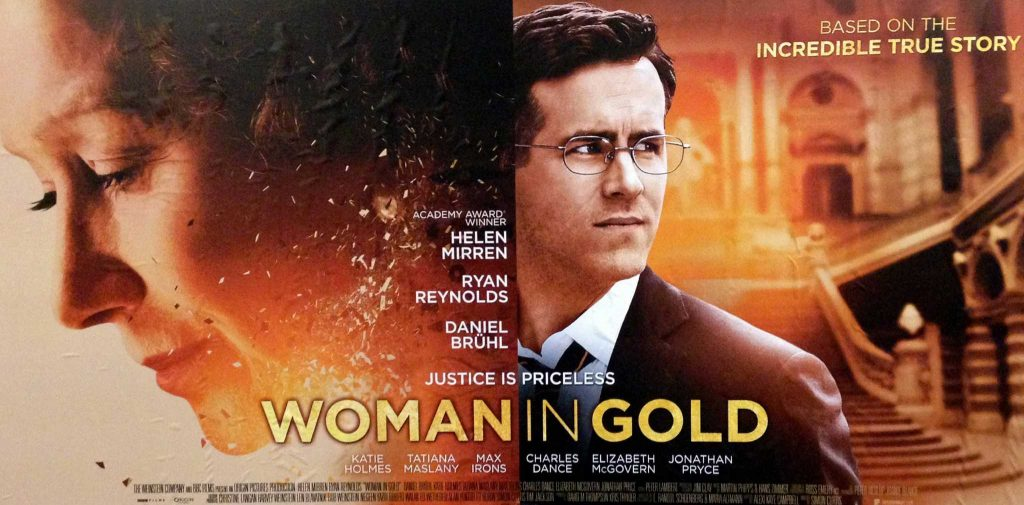 Locandina del film Woman in gold con Ryan Reynolds